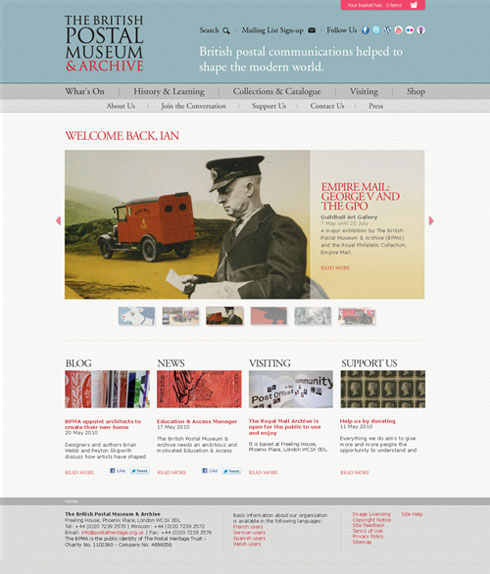 Mock-up of new BPMA website homepage