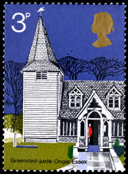 St Andrew's, Greensted-juxta-Ongar, Essex stamp, 1972