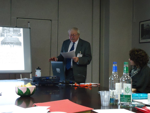 """John gives a presentation on the Post Office (London) Railway, also known as """"Mail Rail""""."""