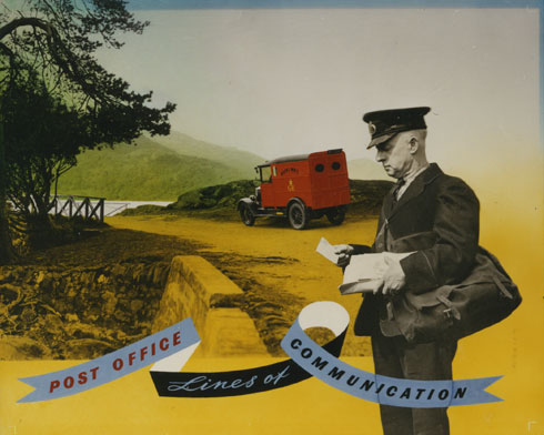 Post office lines of communication, c. 1950. Designed by Frederic Henri Kay Henrion. (POST 109/208)