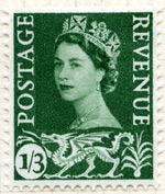 Welsh 1s3d stamp