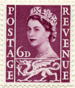 Welsh 6d stamp