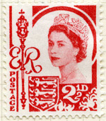 Jersey 2.5d stamp