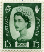 Northern Ireland 1s3d stamp