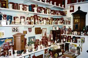 A photograph of some of the Wilkinson Collection as displayed in Ian Wilkinsons home.