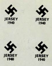 Proposed swastika overprint design for Jersey stamps