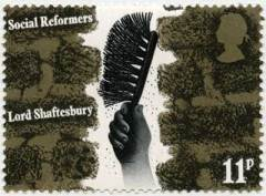 David Gentlemans stamp celebrating the social reforms of Lord Shaftesbury