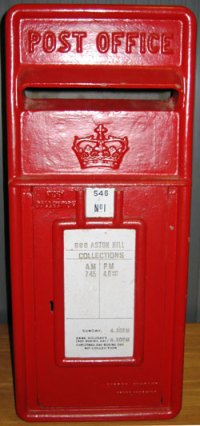 A Scottish lamp box bearing the Scottish Crown instead of the EIIR cypher