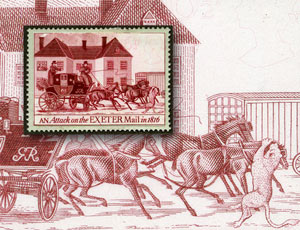 London 2010 postcard #1: An attack on the Exeter Mail in 1816