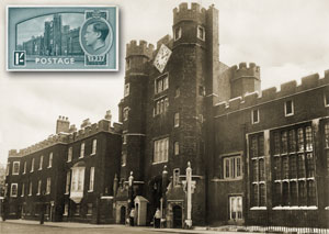 London 2010 postcard #2: St Jamess Palace and the coronation of Edward VIII