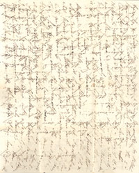 A cross-written letter
