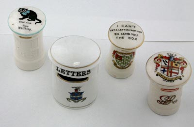 Plate 4: Different model china letter boxes from the Wilkinson Collection