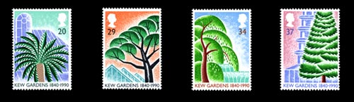 Paul Leiths Kew Gardens stamps (1990)