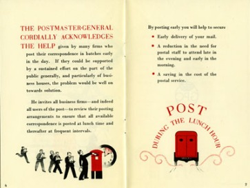 POST 122/10941: Post During The Lunch-Hour leaflet