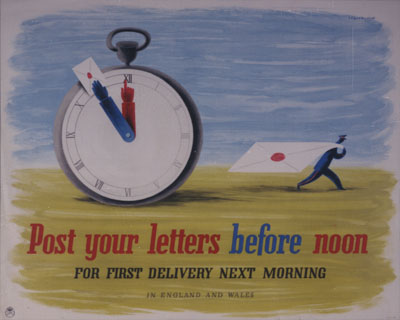 PRD 0238: Post your letters before noon for first delivery next morning in