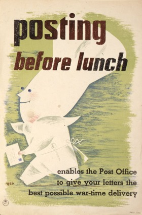 PRD 0252: Posting before lunch enables the Post Office to give your letters the best possible war-time delivery