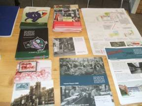 Some of the BPMA leaflets and postcards available on the day