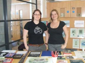 Jennifer and Jo man the BPMA stall at Swinpex