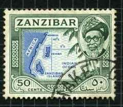 A stamp from Zanzibar which appears in Freddie Mercurys album