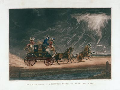 The Mail Coach in a Thunder Storm on Newmarket Heath