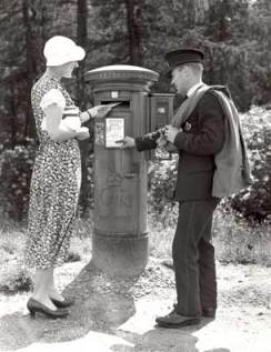 Pillar Box. Moor Park, Hertfordshire