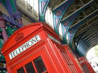 K2 and K6 phone kiosks at Smithfield Market