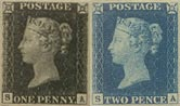 Penny Black and Twopence Blue