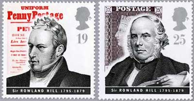 Pioneers of Communication: Rowland Hill stamps, 1995