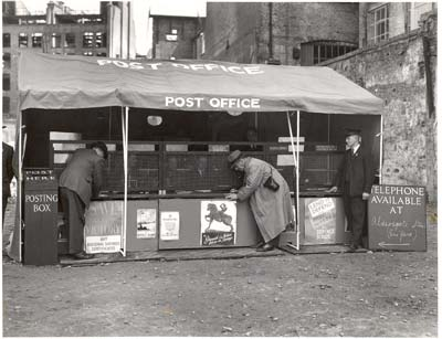A Mobile Post Office in a bombed area, 1941