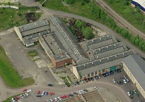 An aerial view of the former Chain Testing House, Swindon - soon to be home to the BPMA