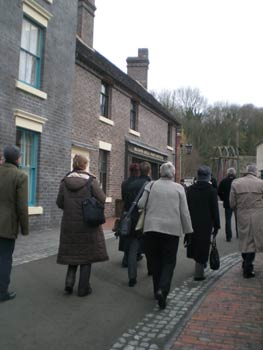 Ironbridge Gorge Museum Trust staff give tours of the Blists Hill site.