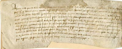 A letter from Normandy, 1397