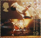 Queen lead singer Freddie Mercury on a stamp, 1999
