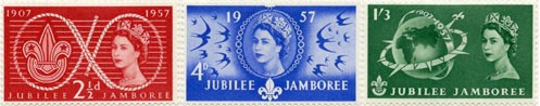 World Scout Jubilee Jamboree commemoratives, 1957