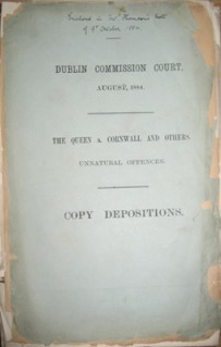 The copy deposition of the Queen a. Cornwall & Others - Unnatural offenses