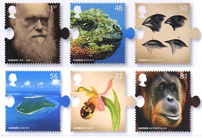 200th Anniversary of the Birth of Charles Darwin stamp issue, 2009