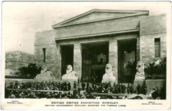 Pavilion at the British Empire Exhibition Wembley