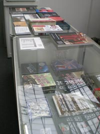 Merchandise on display at the Friends of the BPMA stall at Spring Stampex 2010.