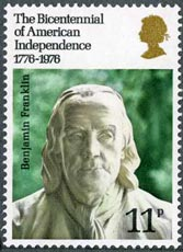 Bicentenary of American Independence stamp, 1976