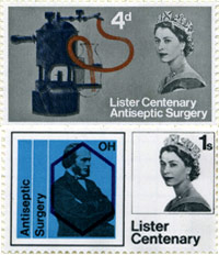 Lister Centenary Stamps, 1965