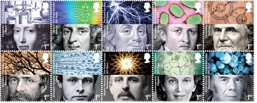 Royal Society 350th Anniversary stamps