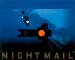 The poster for Night Mail designed by Pat Keely