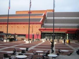 The entrance to the British Library, St Pancras