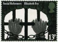Elizabeth Fry stamp from the Social Reformers issue (1976)