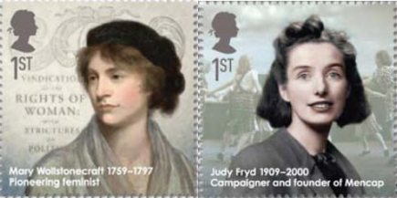From the Eminent Britons stamp issue (2009): Mary Wollstonecraft and Judy Fryd