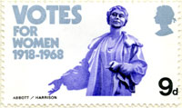50th anniversary of Votes for Women stamp (1968)