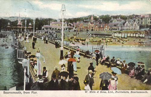 One of the postcards to be on display: Bournemouth from the Pier