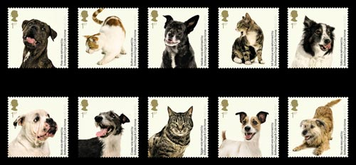 The 150th Anniversary of Battersea Dogs & Cats Home stamps
