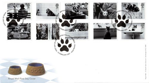 The Cats & Dogs First Day Cover, 2001