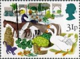 Early produce fairs stamp, from the British Fairs issue 1983